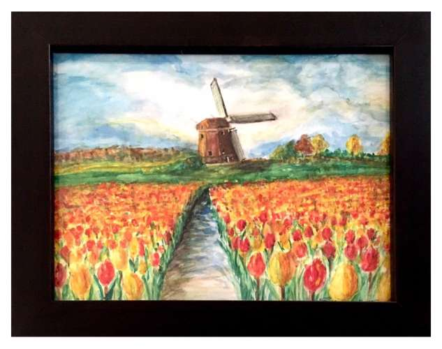 Holland Fields, Watercolour , $$320.0000